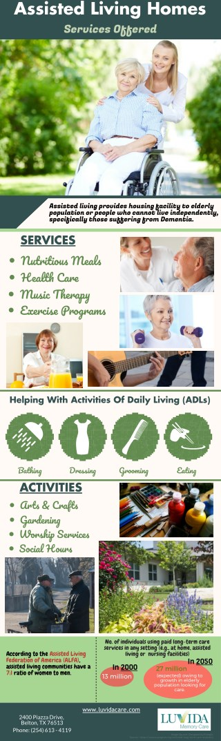 Assisted Living Homes Services Offered