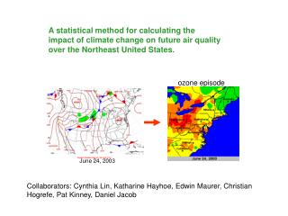 A statistical method for calculating the impact of climate change on future air quality over the Northeast United States