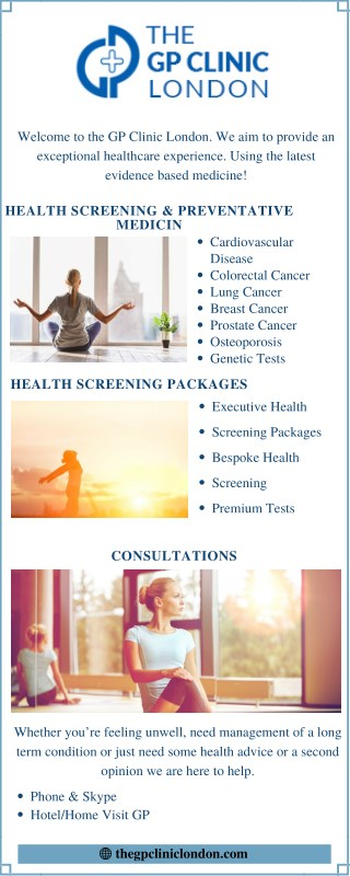 Full Health Screening at The GP Clinic London