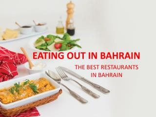 Eating out in Bahrain