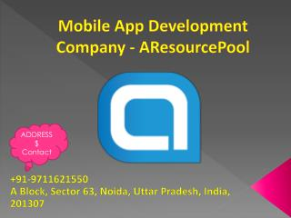 Mobile App Development Company - AResourcePool