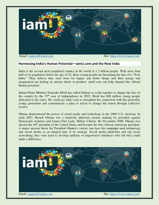 Harnessing India's Human Potential—iamU.com and the New India.