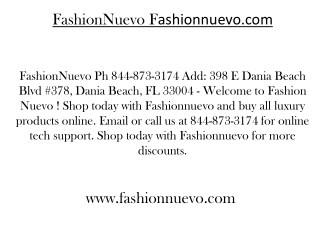 Fashionnuevo.com Ph 844-873-3174