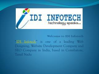 Web Designing and SEO Company - IDI INFOTECH