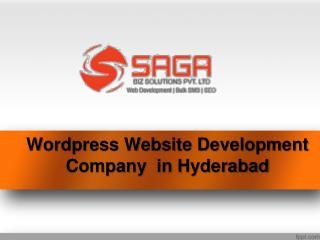 wordpress web development company in Hyderabad, Best wordpress website design service providers in Hyderabad – Saga B