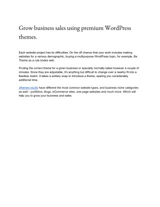Grow business sales using premium WordPress themes