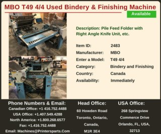 Buy Used MBO T49 4/4 Bindery and Finishing Machine