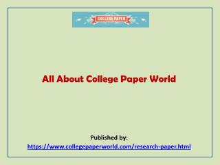All About College Paper World