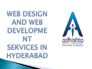 Website Design and Web Development Services in Hyderabad