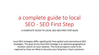 a complete guide to local SEO - SEO First Step