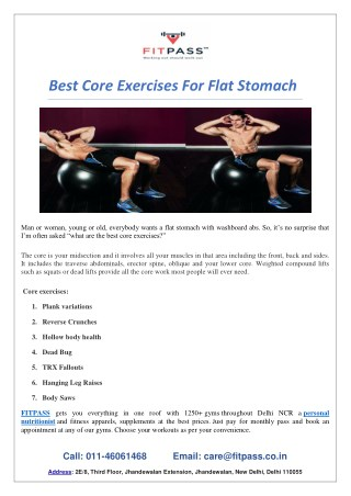 Best Core Exercises For Flat Stomach