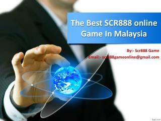 The Best SCR888 Download Casino Games In Malaysia