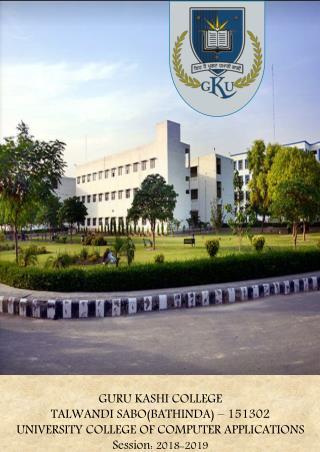 Best University of Computer Applications