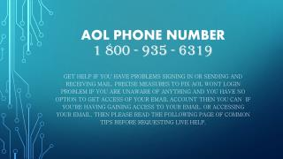 1800-935-6319 aol email tech support phone number