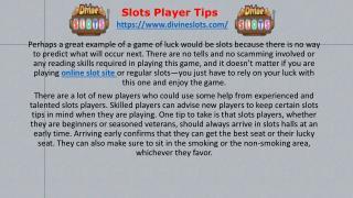 slots player tips