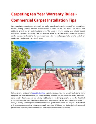How to install wall-to-wall carpet yourself