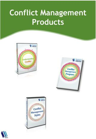 Conflict Management Training Products Catalog