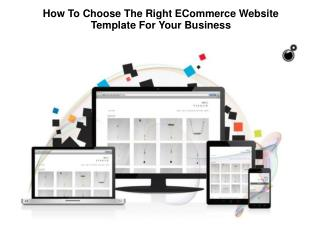 Choose The Right ECommerce Website Template For Your Business