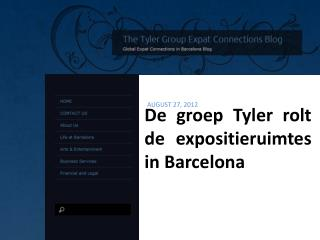 De groep Tyler rolt de expositieruimtes in Barcelona, The Ty