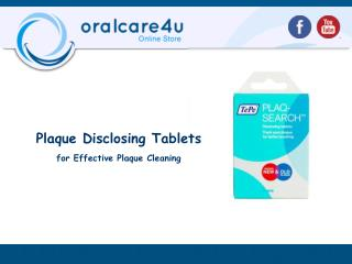 Plaque Disclosing Tablets for Effective Plaque Cleaning