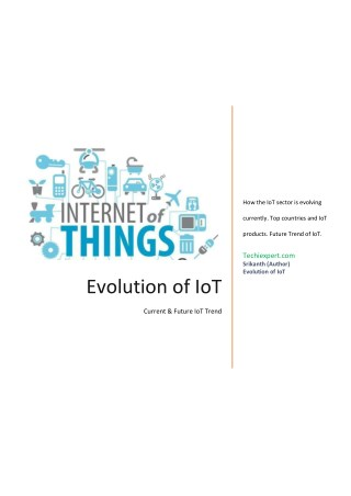 Impact of internet of things / The rise of IOT Industry