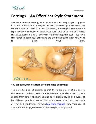 Earrings – An Effortless Style Statement