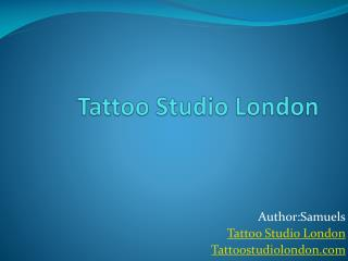 Tattoo Studio London