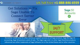 Get Solutions to Fix Sage Unable To Connect Server Error