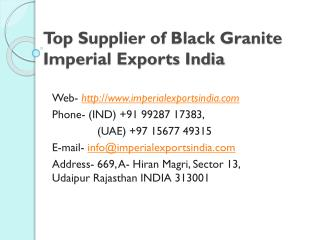 Top Supplier of Black Granite Imperial Exports India