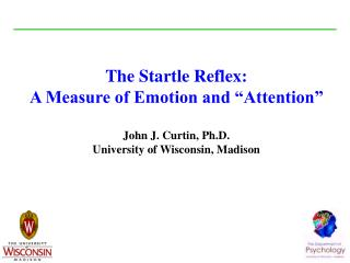"The Startle Reflex: A Measure of Emotion and ""Attention"" John J. Curtin, Ph.D. University of Wisconsin, Madison"