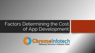 What Factors Determine the Cost of App Development