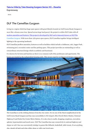 DLF The Camellias Gurgaon Price