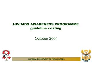 HIV/AIDS AWARENESS PROGRAMME guideline costing