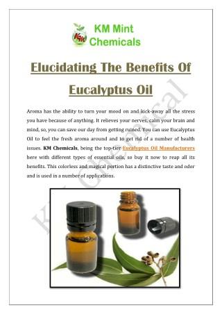Elucidating The Benefits Of Eucalyptus Oil