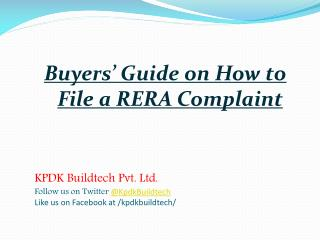 Buyers' Guide on How to File a RERA Complaint