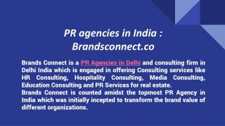 PR agencies in India