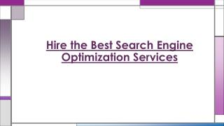 Search Engine Optimization Services Benefits