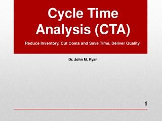 Webinar On Cycle Time Analysis By John Ryan