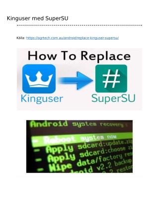 Byt Kinguser med SuperSU