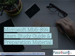 MCSA Mb6-894 Dumps Microsoft Dynamics MB6-894 Exam