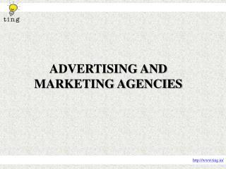 Advertising and marketing agencies