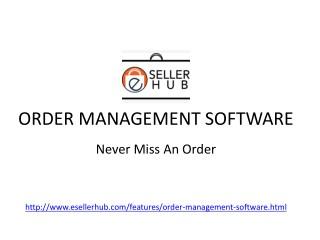 Introducing Online Order Management Software