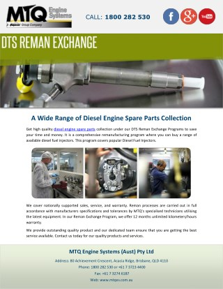 A Wide Range of Diesel Engine Spare Parts Collection