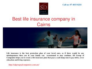Best life insurance company in Cairns