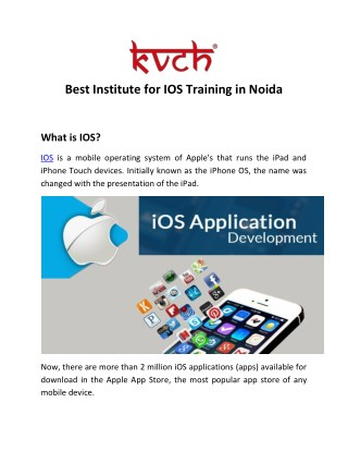 IOS training  in Noida