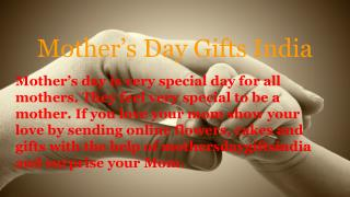 Send online cakes and flowers on this mother's day