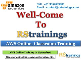 AWS Online Training In Hyderabad