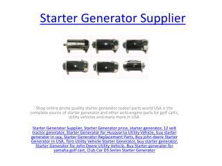 12 Volt Tractor Generator
