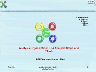 Analysis Organization:  G o 4  Analysis Steps and TTask
