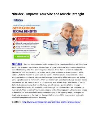 Nitridex - Improve Your Testosterone Level